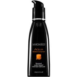 Wicked Aqua Salted Caramel Waterbased Lubricant 120mls