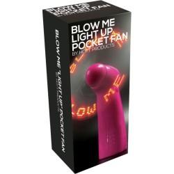 Blow Me Light Up Pocket Fan Pink